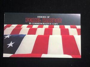 1991 Heroes of Pearl Harbor $5 Commemorative Coin & Folder Set Marshall Islands