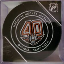 2018-19 Edmonton Oilers (40th.Yr Anniversary) Official Game Puck
