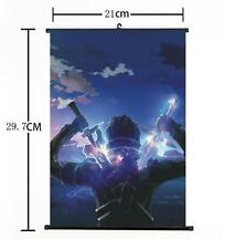 "Hot Japan Anime Sword Art Online Kirito Home Decor Wall Scroll 8""x12"" 03"
