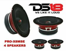 "(4) DS18 PRO-X8MSE 2200W 8"" Midrange Full Range Speakers Loud Sealed Back 8 Ohm"