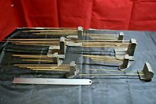 Lot of 8 Vintage Clock Chime Bar Gong Rod For Parts & Repair