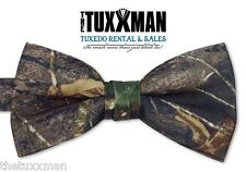 NEW Mens Camo Camouflage PreTied Banded Bow tie Tuxedo Tie Wedding FREE SHIPPING