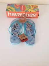 BRAND NEW GIRLS DISNEY FROZEN 'HAVAIANAS' FLIP FLOPS. SIZE 35-36. ORIGINAL BOX.