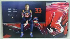 New listing 2015 Max Verstappen Scuderia Toro Rosso F1 Driver Card Formula 1 Postcard