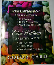 Paternayan & Elsa Williams Yarn Color Card Chart Tapestry Wool Crewel Original