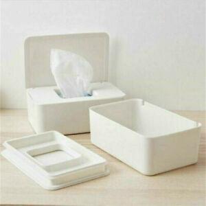 Wet Wipes Dispenser Holder Tissue Storage Box Case with Lid Home Stores UK
