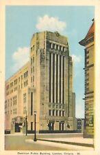 London Ontario~Dominion Public Building~1940s Postcard
