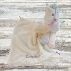 Personalised UNICORN Baby Comforter, Baby Blanket Gift, Boy Girl Comfort Blanket