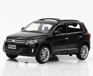 1:32 VW Volkswagen Tiguan SUV Car Model Diecast Toy Vehicle - Black Paint