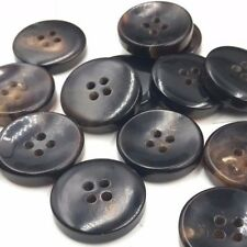 J477 Lot 6 32L 20mm Thick Natural Brown Real Horn Button Bouton Blazer Knopf