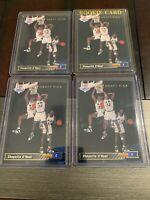 4x 1992 Upper Deck SHAQUILLE O'Neal Orlando Magic ROOKIE RC #1 HOF Rare Buy Now!