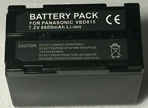 Battery for PANASONIC VW-VBD2 VW-VBD2E VW-VBD815 VW-VBDR1 VW-VBD3 VW-VBD5 7.2V