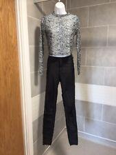 Wet Look Jeans & Snakeskin Top Bundle Size S 10