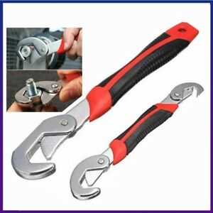 2PCS Self-Adjusting Wrench Set 9-32mm Pipe Spanner Plumbers Mechanics Wrenches