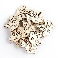 Decoration Wooden Bird Pendant Decor Wood carving Wooden ornaments Wood Chip