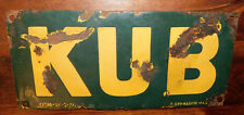 KUB . ANCIENNE PLAQUE EMAILLEE BOUILLON KUB . 35 x 16 cm . OLD EMAILSHILD