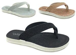 Ladies Womens New Diamante Toe Post Slip On Flat Flip Flops Slippers UK SIZE 3-8
