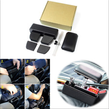 Black Car Center Console Armrest Storage Box Organizer Elbow Support Pads