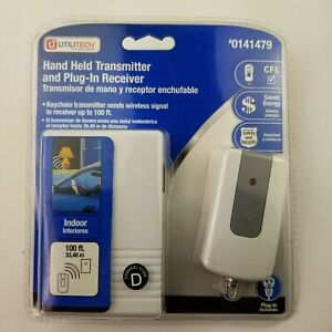 Keychain Transmitter and Plug-In Appliance, Lamp Receiver by Utilitech / NEW