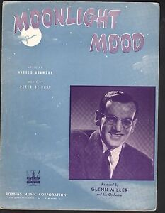 Moonlight Mood 1942 Glenn MIller Sheet Music
