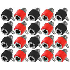 Banana Chassis Panel Socket 4mm Female Speaker Connector Red Black x 10 Pairs