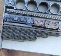 Bleisatz Schmuckrahmen Messing Linien Buchdruck Handsatz Letterpress Rahmen