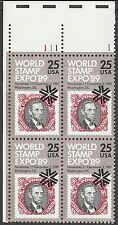 US 2410 World Stamp Expo 89 25c plate block UL 111-1 MNH 1989