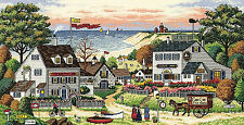 Cross Stitch Kit Gold Collection Wysocki Cozy Cove Victorian Cape Cod #3896