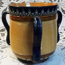 DOULTON BURSLEM ENGLAND STONEWARE TYG / LARGE LOVING CUP, 1891-1902, VERY NICE!
