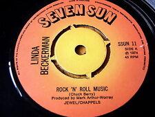 """Linda Beckerman-Rock 'n' Roll Music 7"""" in vinile"""