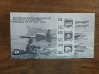 DENMARK 2015 WWII REPLICA IMPERF MINI SHEET MINT STAMP NEVER ISSUED