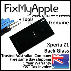 Sony Xperia Z1 L39h Black Back Rear Battery Cover Glass Housing Replacement Tool