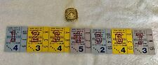 1963 CHICAGO BEARS SEASON TICKET STUBS CHAMPIONSHIP RING Wrigley Field