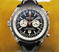 BREITLING Chrono Matic Chronograph Leather Band Men's Watch A14136