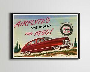"1950 NASH Airflyte POSTER! (up to 24"" x 36"") - Ambassador - Statesman - Cars"