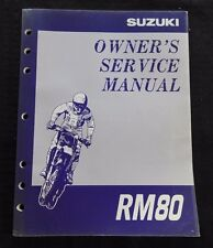 GENUINE 1996 1997 SUZUKI 80 RM80 MOTORCYCLE OWNER'S SERVICE MANUAL VERY CLEAN
