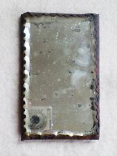 Antique Free Standing or Hanging Scalloped Bevel Shaving Mirror Metal Frame