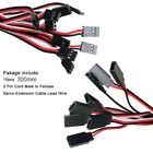 10x Servo Extension Lead Wire Cable For RC Futaba JR Male to Female Connector US