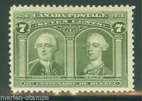 CANADA SCOTT#100 VERY FINE  MINT  HINGED WITH GUM BEND FULL ORIGINAL GUM