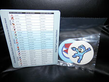 Mega Man Legacy Collection- Villain Cheat Sheet and 4 Stickers  Capcom New