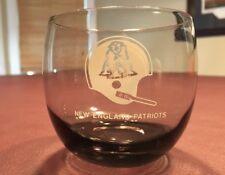 New England Patriots Vintage Smoked Glass