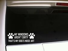 "Dog Nose Art Car Decal Vinyl Sticker 7"" E86 Puppies Pets Animals Paw Love Funny"