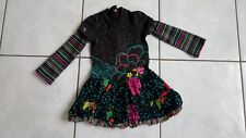 ADORABLE ROBE CATIMINI 2 ANS IMPRIMEE FLEURS ET RAYEE 2 ANS TBE