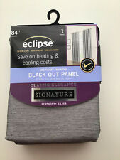 ECLIPSE SIGNATURE SILVER 52X84 BLACKOUT CURTAIN PANEL BRAND NEW
