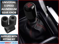 Voiture universel 5 vitesses en aluminium Shift Knob Stick vitesses manuelle levier shifter noir