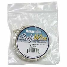 Round 14 Gauge Non-Tarnish Silver Plate Wire Beadsmith 10ft 41778