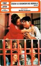 FICHE CINEMA : ZEGEN - Ogata,Baishô,Imamura 1987 Le Seigneur Des Bordels