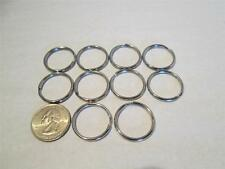 Lot Split Stainless Steel Key Ring Rings Fob Chain 1 Inch 10 Count Brand New