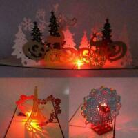 LED Light Music 3D Up Greeting Cards Birthday Christmas Wedding T0I3 Postca R1G1