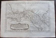 CARTE ISTHME PANAMA PROVINCES  VERAGUA TERRE FERME DARIEN BELLIN 1754 OLD MAP
